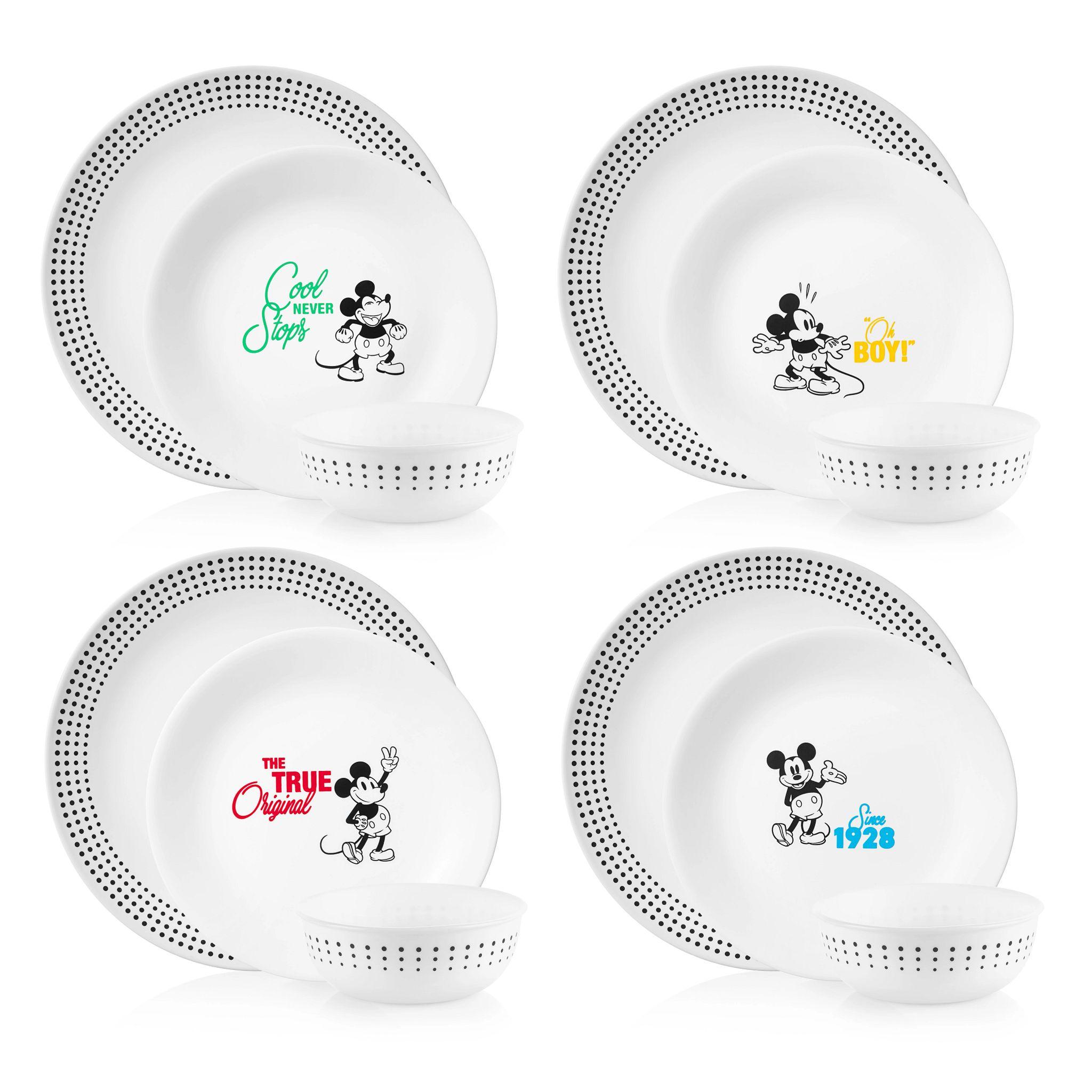 12-pc Dinnerware Set: Mickey Mouse - The True Original