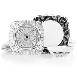 Square Imani 18-piece Dinnerware Set, Service for 6