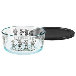 Simply Store® 7 Cup Day of the Dead Mariachi Storage Dish w/ Black Plastic Lid