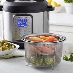 Steamer Baskets with vegetables by instant pot