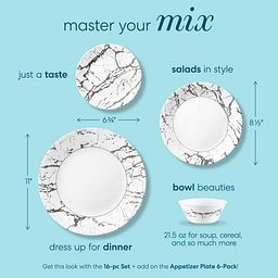 Master your mix product dimensions for Stone Grey plates and bowls
