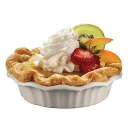 French White® Mini Pie Dish with pie inside