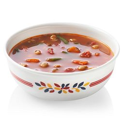 Signature Prairie Garden Red 16-oz Bowl with food