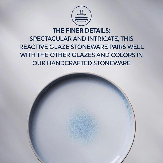 "Stoneware 10.5"" Dinner Plates, Nordic Blue, 4-pack"