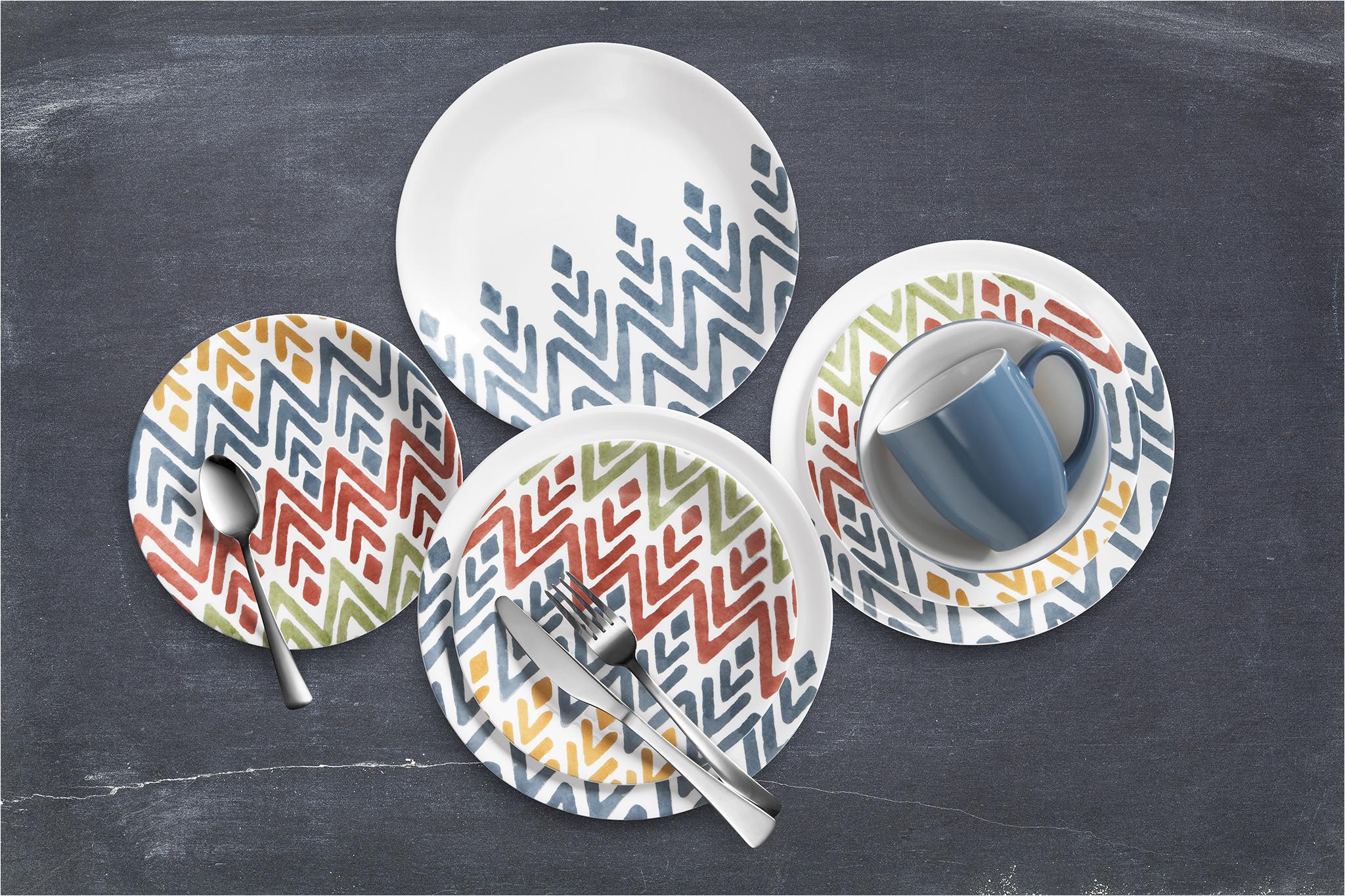 Multi Color Dinnerware Patterns Corelle