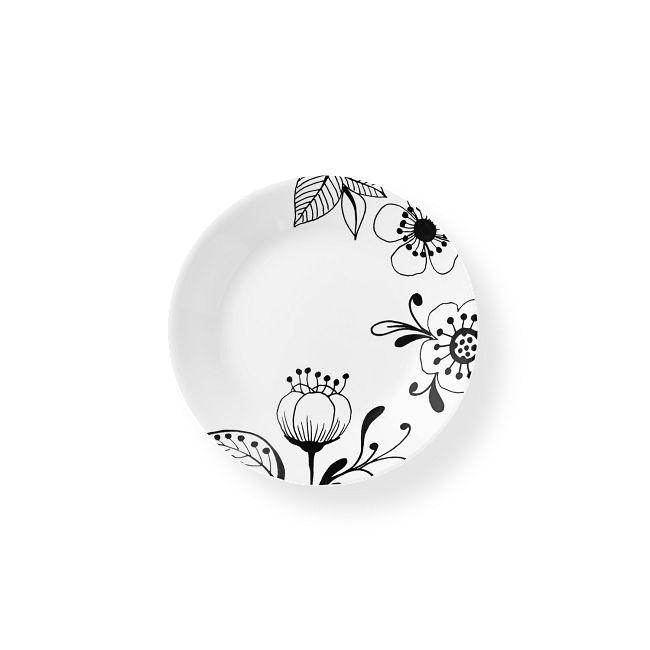 "Inked Poppy 6.75"" Appetizer Plate"
