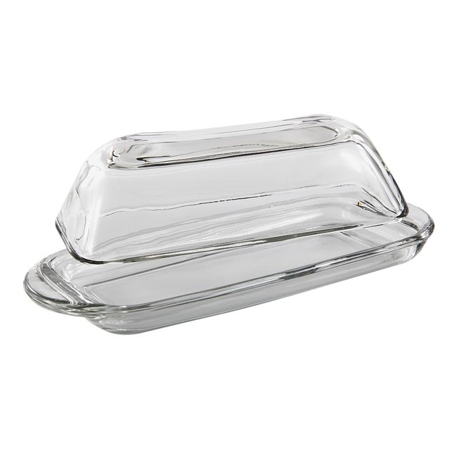 Presence Glass Butter Dish with Cover