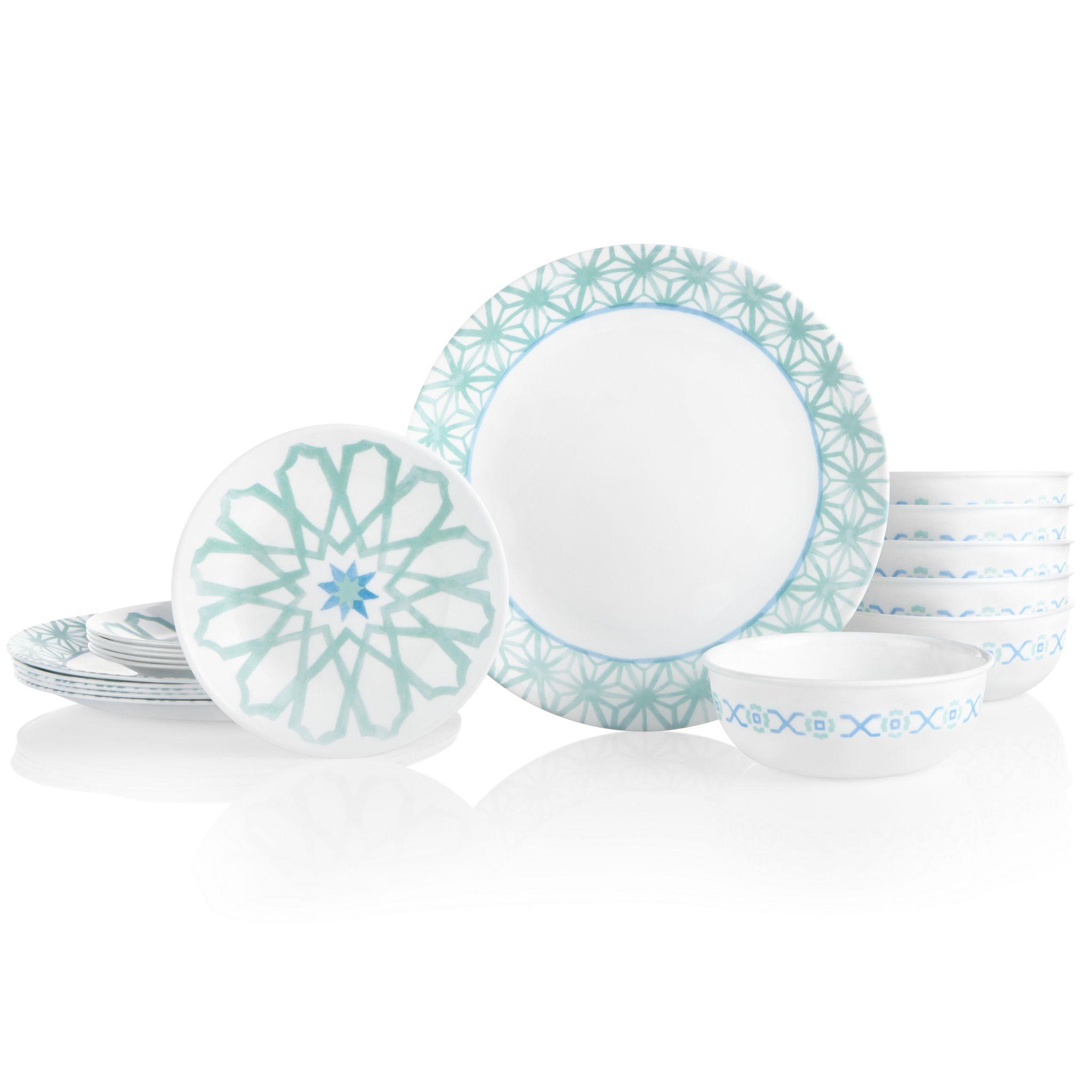 Amalfi Verde 18-piece Dinnerware Set, Service for 6