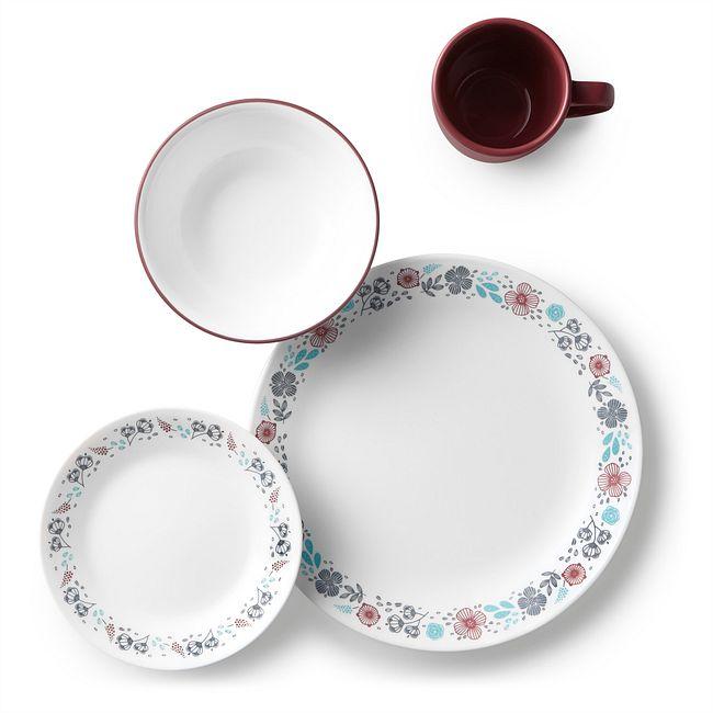 Livingware Nordic Bloom 16-pc Dinnerware Set