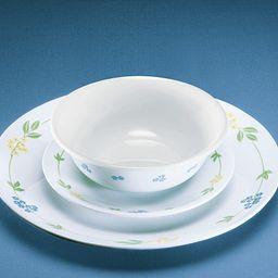 Secret Garden 18-piece Dinnerware Set showing dinnerplate, appetizer plate and cereal bowl