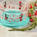 Mickey & Friends™ 4-cup Round Glass Storage Container, Holiday Edition with Green Lid