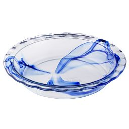 "Watercolor Collection Blue Lagoon 9.5"" Pie Plate"