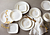 Gilded Woods Pattern on Warm White colored Corelle