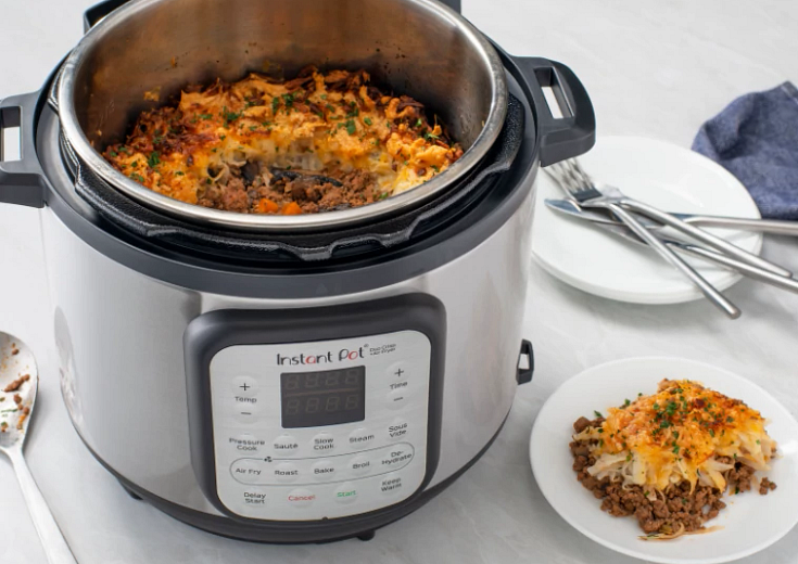 Duo Crisp + Air Fryer with Shepherd's Pie with Cheesy Potato Topping