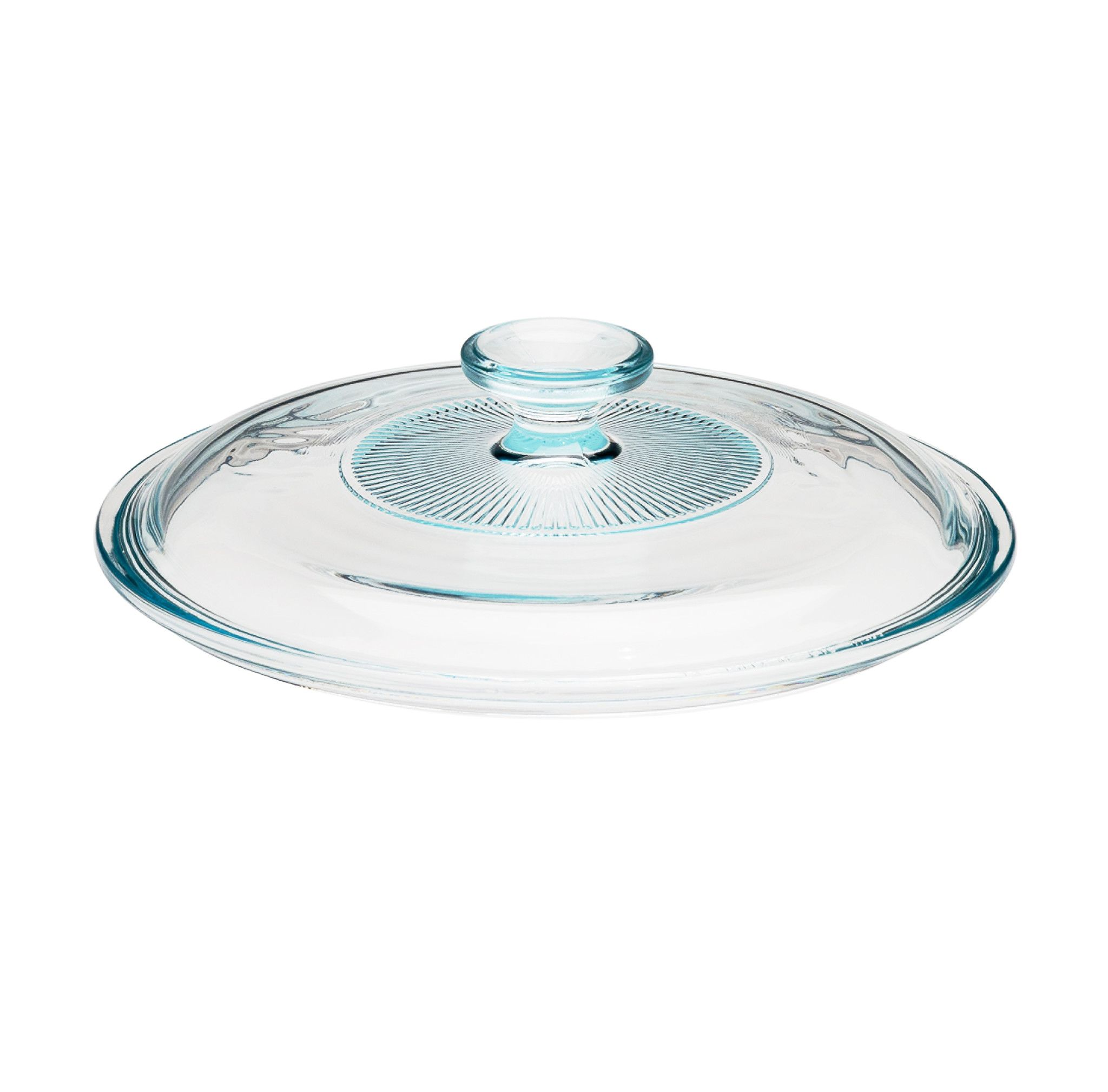 Corningware French White 2.5-Qt Fluted Round Glass Lid