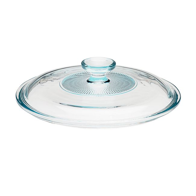 French White Fluted Glass Lid for 2.5-quart Baking Dish