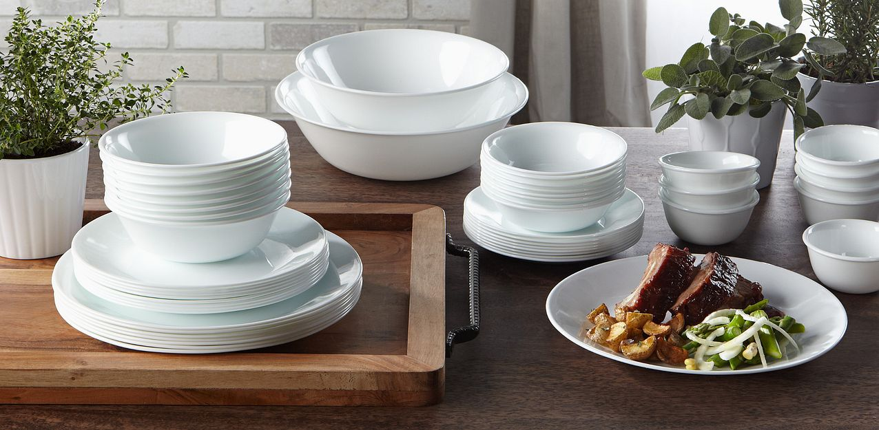 Corelle round dinnerware set