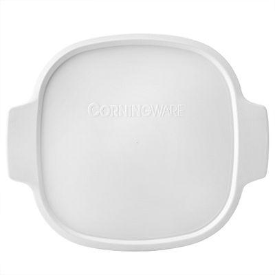 Corningware Stovetop Pyroceram 2-Qt / 3-Qt White Square Plastic Lid