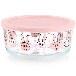 Every Bunny 7-cup Food Storage Container with Pink Lid