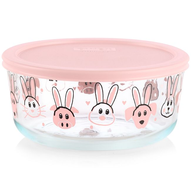 Every Bunny Pink 7-cup Food Storage Container with Lid