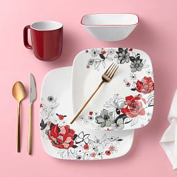 Chelsea Rose 16-piece Dinnerware Set, Service for 4 on the table