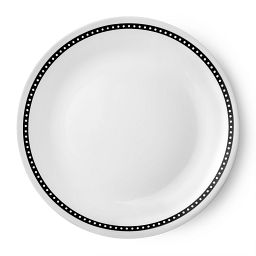 "Livingware™ Ribbon 8.5"" Plate  Black  &  White"