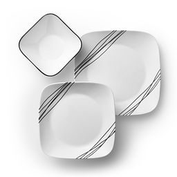 Square Simple Sketch 18-pc Dinnerware Set Top View