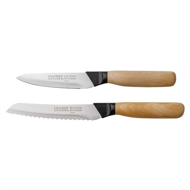 600 Series Beechwood 2-piece Vegetable / Parer Set