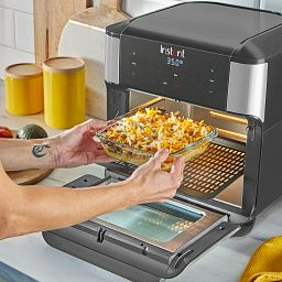 Littles Bakeware being used in Instant Countertop Oven