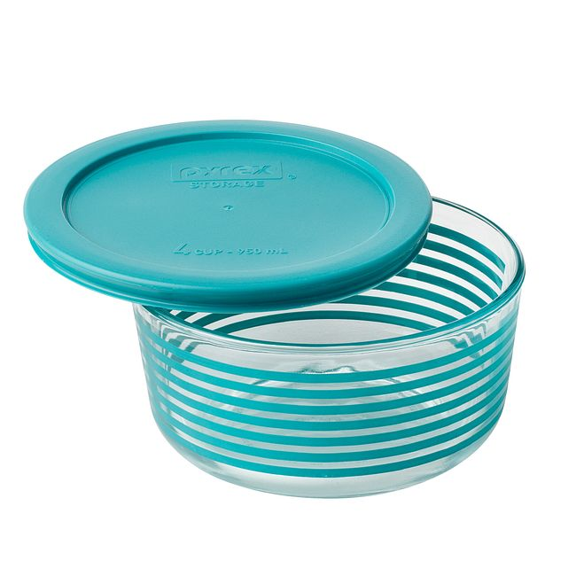Simply Store 4 Cup Turquoise Lane Storage Dish w/ Lid