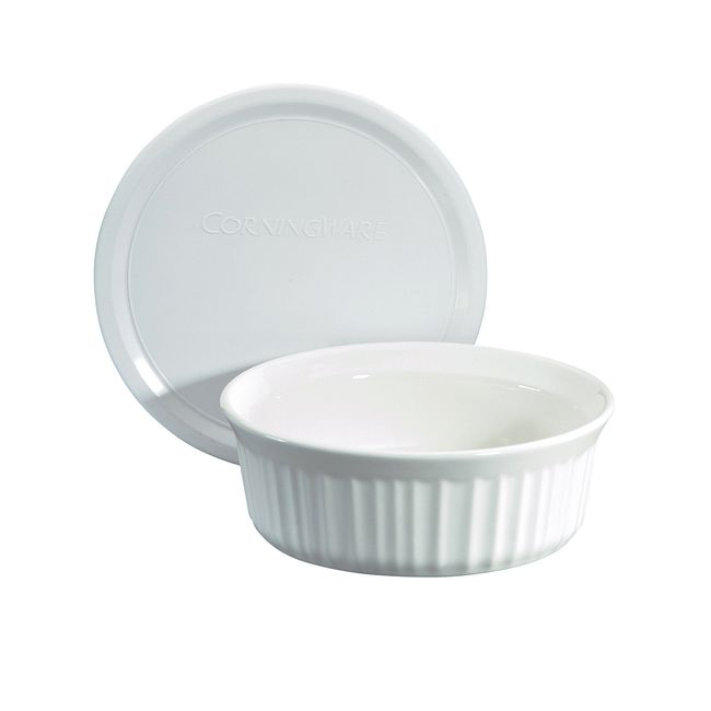 French White 24-ounce Baking Dish with Lid
