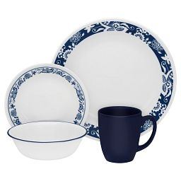 Livingware True Blue 16-pc Dinnerware Set