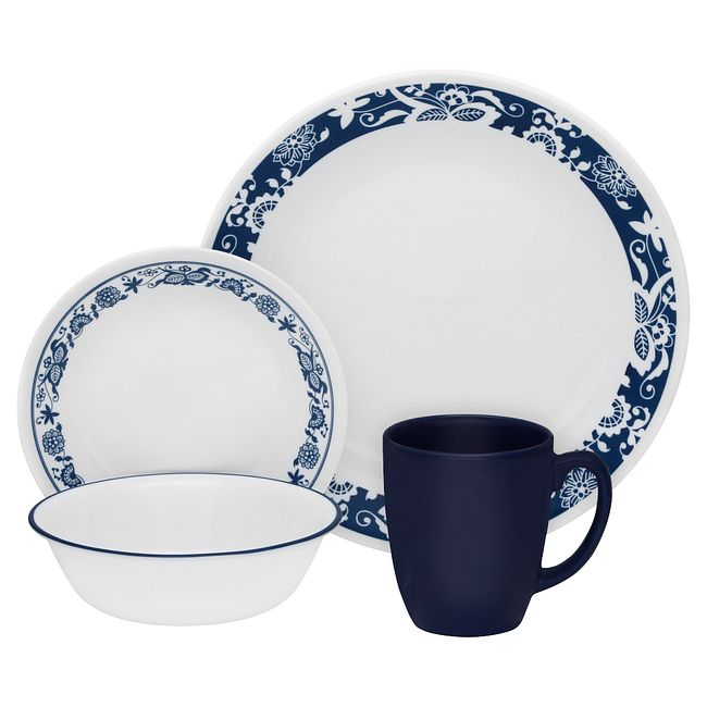True Blue 16-piece Dinnerware Set, Service for 4