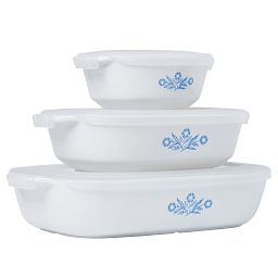 60th Anniversary Cornflower Blue 6-piece Bakeware Set side view
