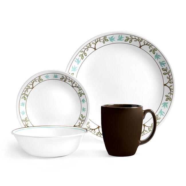 Tree Bird 16-piece Dinnerware Set, Service for 4