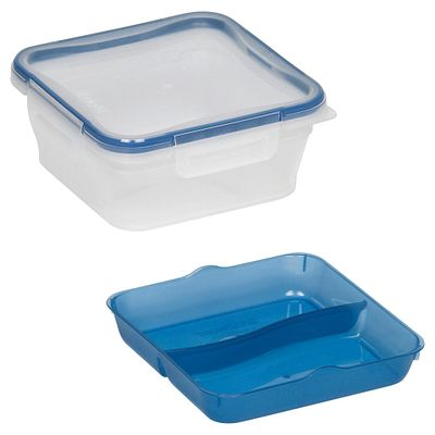 Snapware Total Solution On The Go 5 Cup Plastic Square W/ Divided Tray