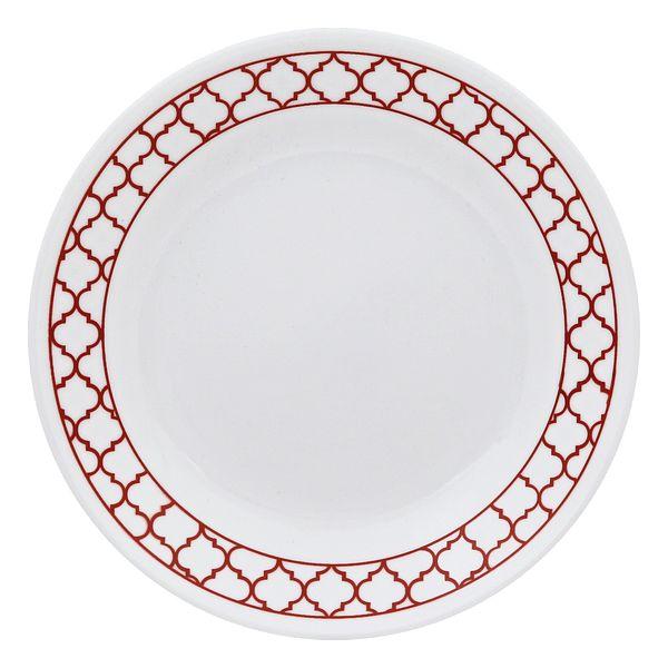 Corelle_Crimson_Trellis_675_Appetizer_Plate
