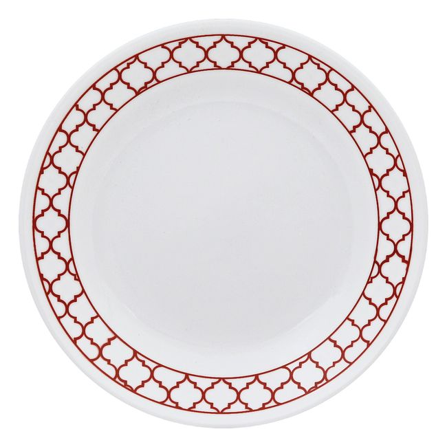 Crimson Trellis 16-piece Dinnerware Set, Service for 4