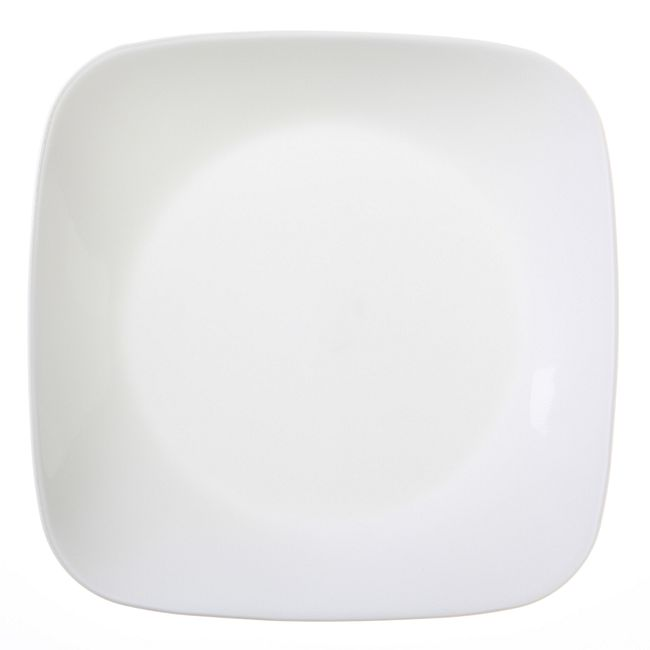 Square Pure White 20-piece Dinnerware Set with Bonus Bowls, Service for 4