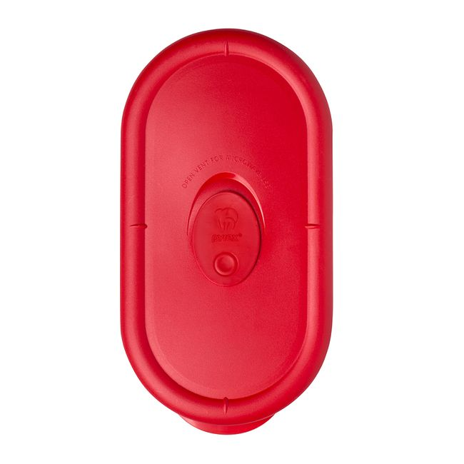 Pro 2 Cup Oblong Vented Plastic Lid, Red