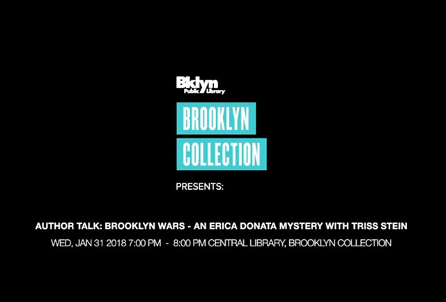 Brooklyn Wars, an author talk by Triss Stein.