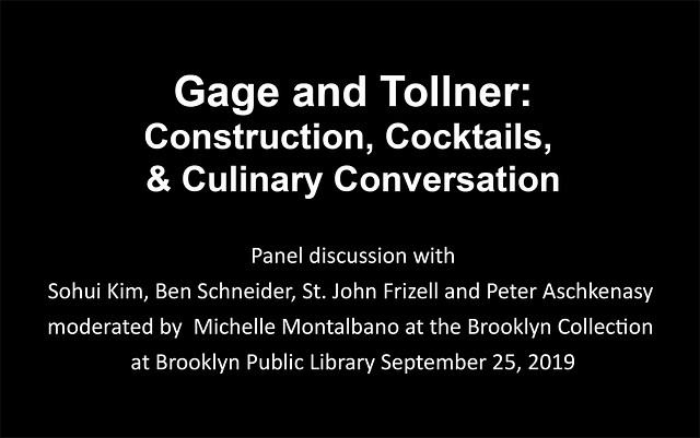 Gage & Tollner: Cocktails, Construction, and Culi...
