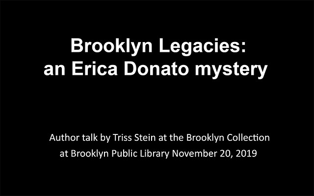 Brooklyn Legacies, an author talk by Triss Stein.